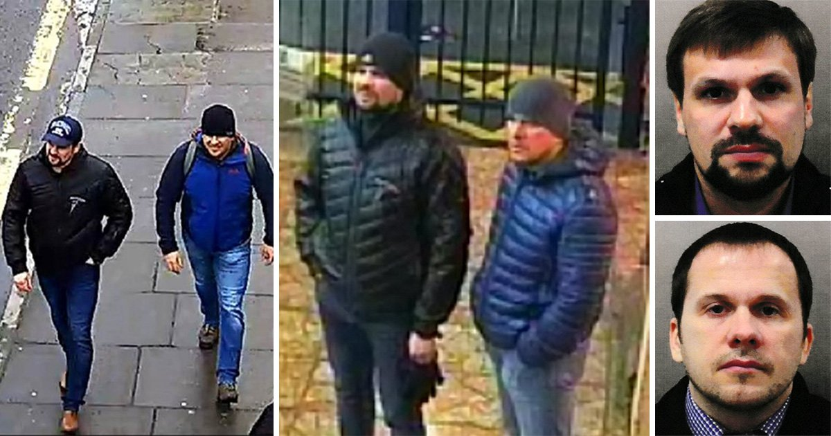 Two Russian 'agents' named as suspects behind Novichok poisoning in Salisbury