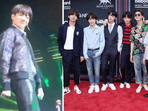 Jungkook sends fans crazy with the Floss as BTS return to LA as part of world tour