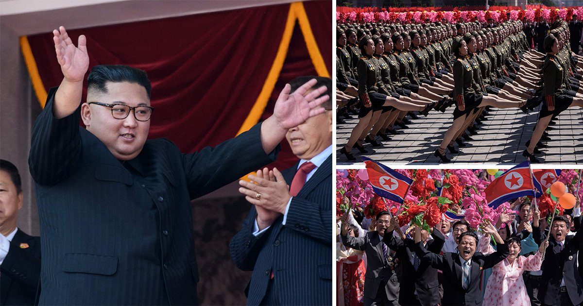 North Korea leaves nuclear missiles out of huge 70th military parade