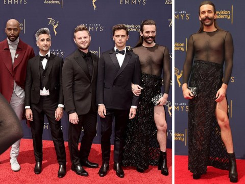 Queer Eye's Jonathan Van Ness is the best dressed of any red carpet ever as he totally slays Emmys