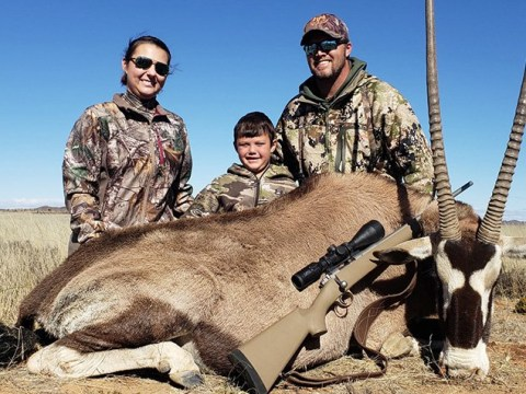 Mum lets son, 8, shoot wild animals because it's great for 'family bonding'