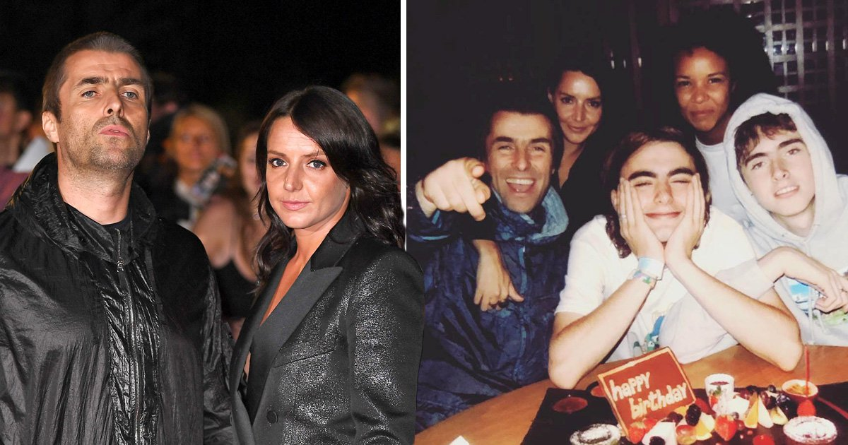 Liam Gallagher cosies up to girlfriend Debbie Gwyther after 'choke' video as they celebrate his son's birthday