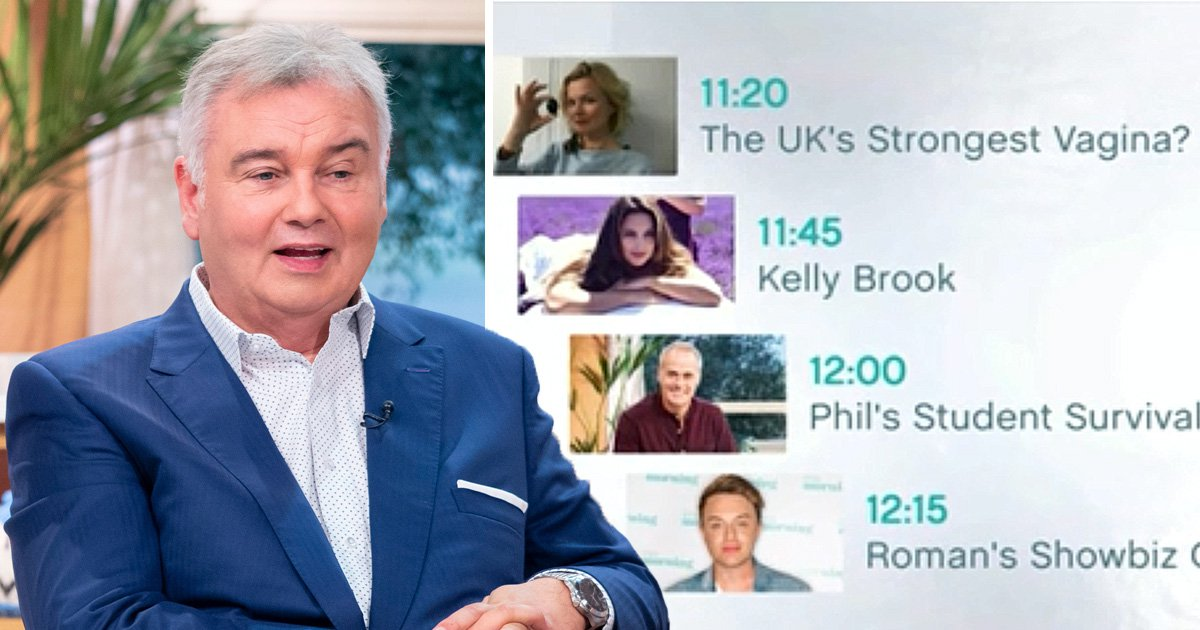 Even Eamonn Holmes is appalled with This Morning's content: 'This is turning into a porno!'