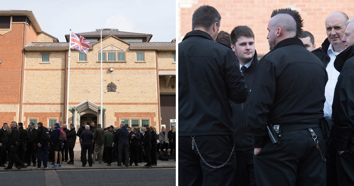 Prison officers walk out in protest at 'unprecedented violence' in British jails