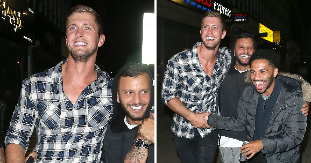Dan Osborne catches up with friends as he enjoys night on the town following CBB stint