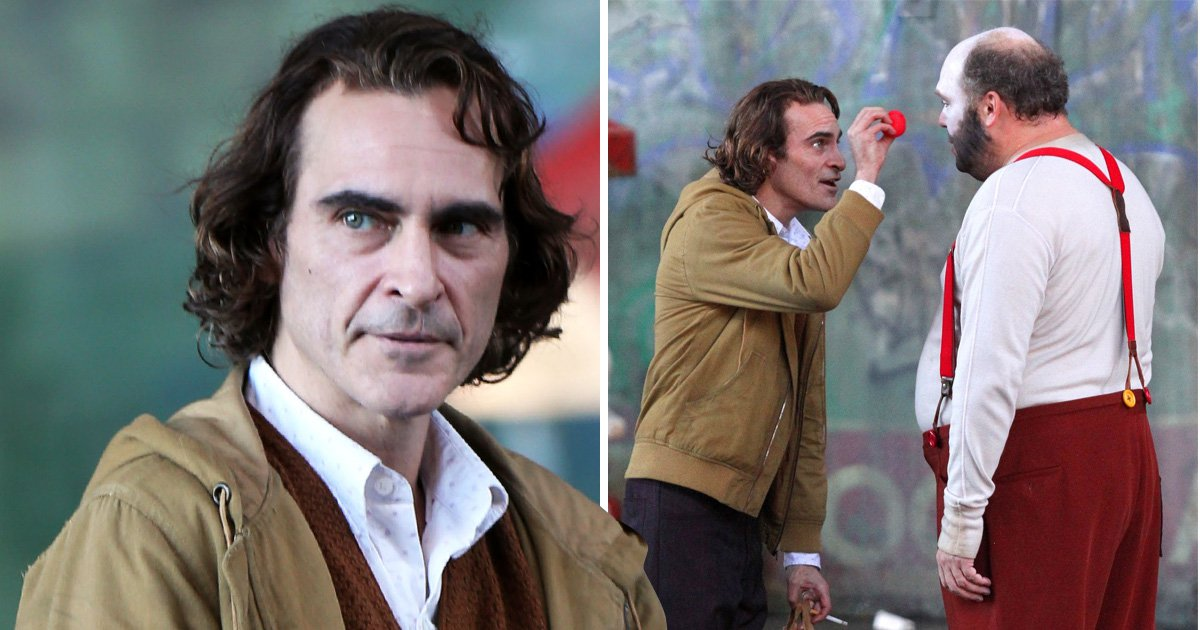 Joaquin Phoenix looks pale and gaunt as he's seen for the first time on set as the Joker