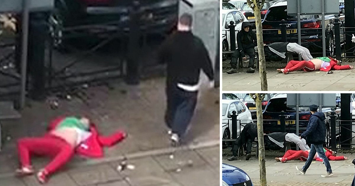 Disturbing video shows woman lying unconscious on ground 'after taking spice'
