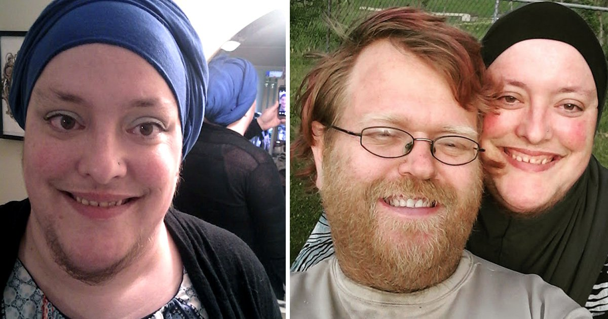 Woman ditches her secret shaving routine to grow a beard like her husband