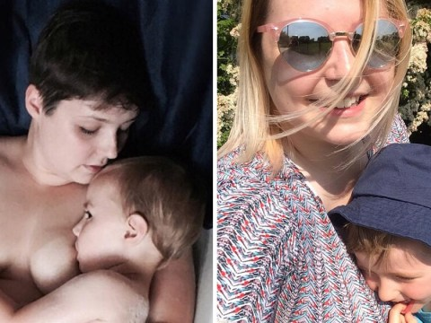 Mum breastfeeds five-year-old son naked in the bath and says there's nothing wrong with extended breastfeeding