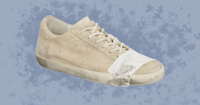 Taped sneakers accused of glamorising poverty