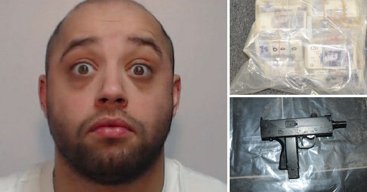 Machine gun, bullets, drugs and cash found at flat at centre of multi-million pound drugs racket