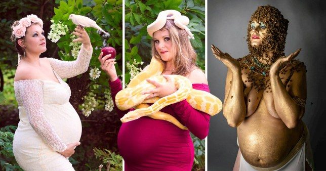 If you're doing a maternity photoshoot, go big or go home. (Picture: Emily Mueller)
