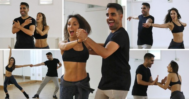 Strictly Come Dancing contestant Dr Ranj Singh and his professional dance partner Janette Manrara during rehearsals