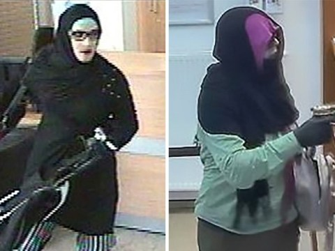 Bank robber disguises himself as Muslim woman during crime spree