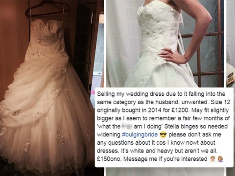 Woman sells her wedding dress with glorious rant on Facebook about it being as 'unwanted' as her ex