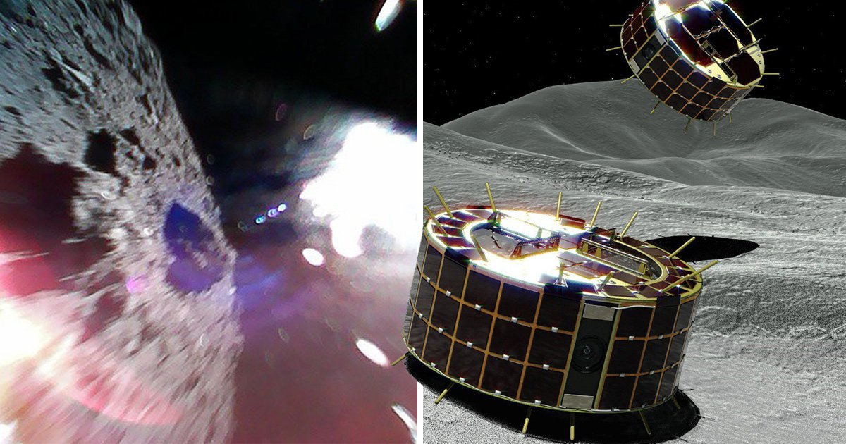 World's first unmanned robots land on asteroid