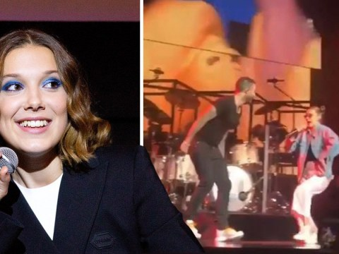 Millie Bobby Brown smashes performance of Cardi B's Girls Like You rap at Maroon 5 concert