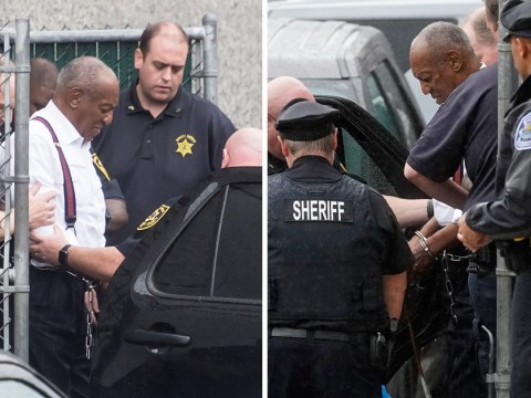 Bill Cosby is led to prison in handcuffs as he's denied bail and sentenced to 3 to 10 years behind bars