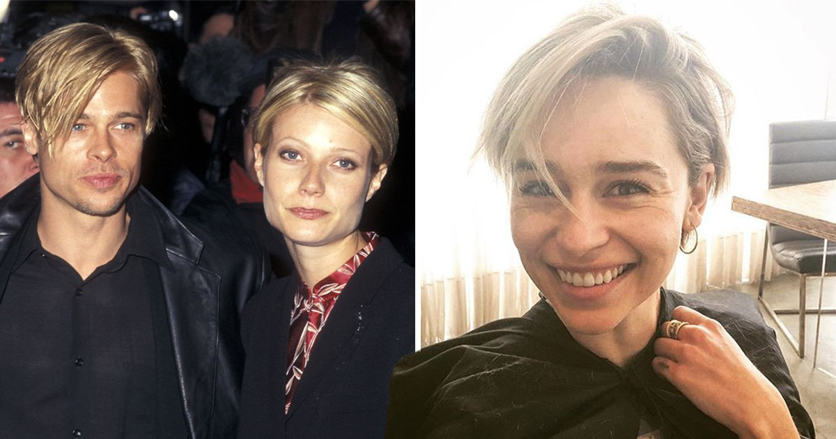 Emilia Clarke gets cute pixie haircut inspired by Gwyneth Paltrow and Brad Pitt's matching 'dos