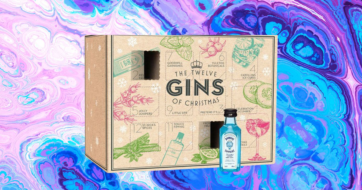 You can get an advent calendar filled with 12 bottles of gin for under £30