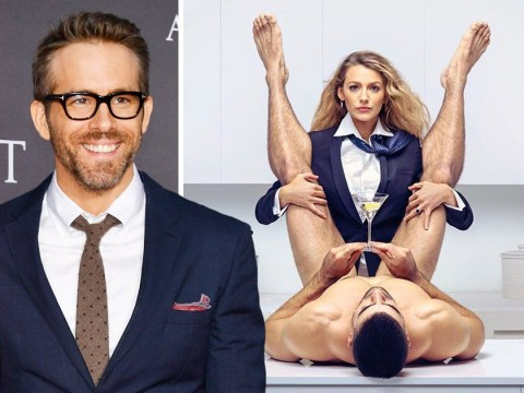 Ryan Reynolds trolls Blake Lively as she gets straddled by a naked male model