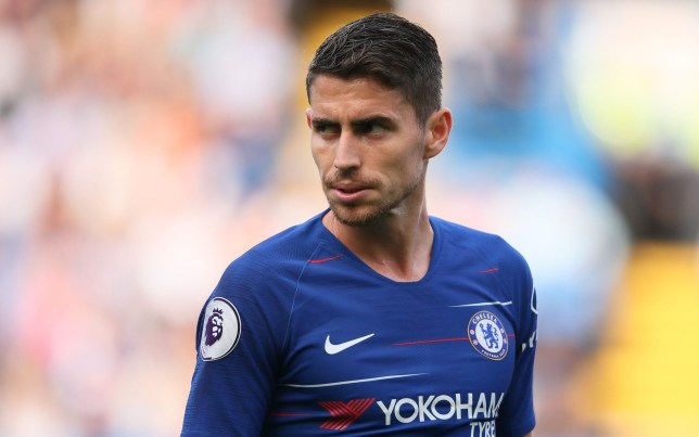 LONDON, ENGLAND - AUGUST 18: Jorginho of Chelsea during the Premier League match between Chelsea FC and Arsenal FC at Stamford Bridge on August 18, 2018 in London, United Kingdom. (Photo by Matthew Ashton - AMA/Getty Images)