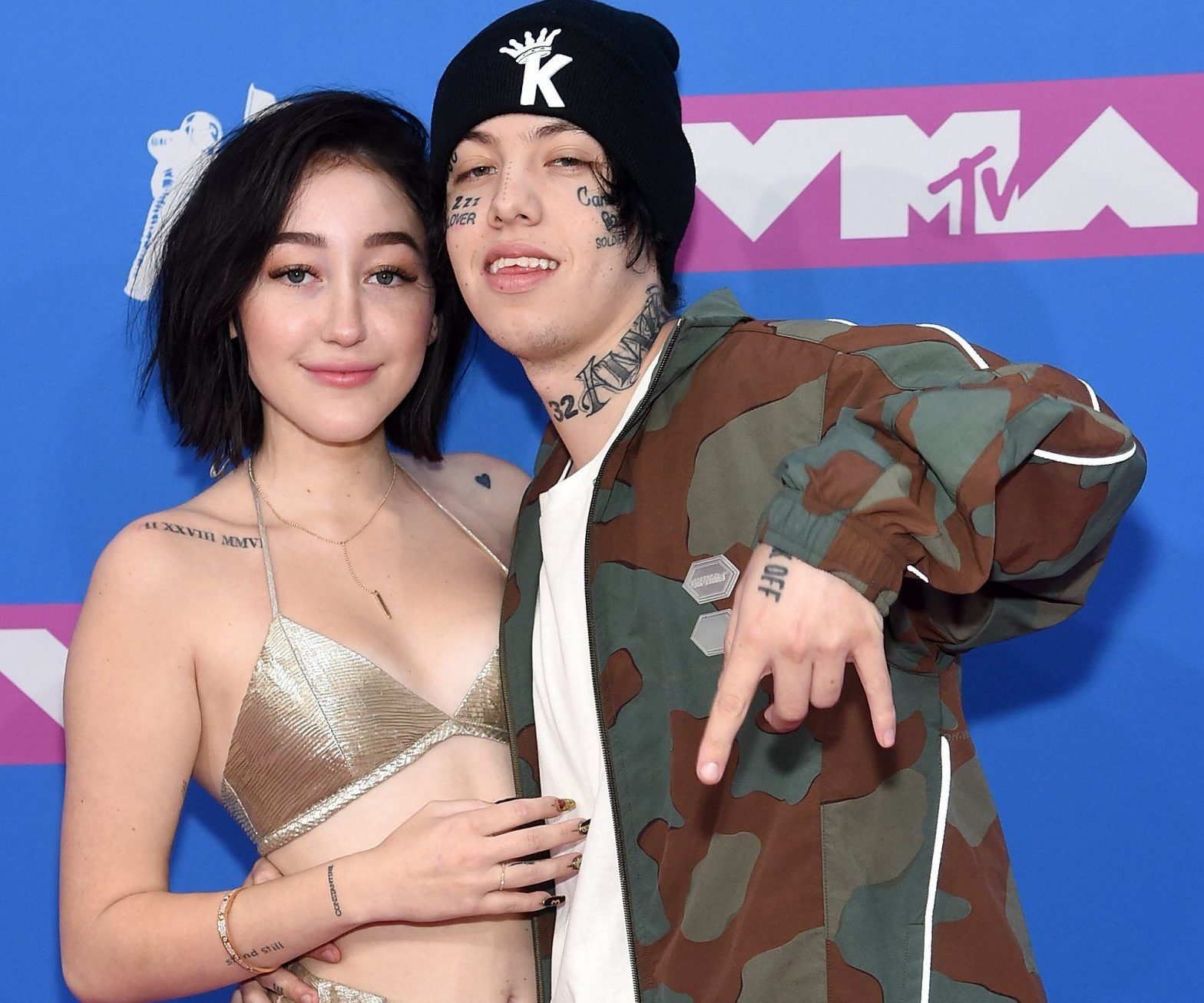 NEW YORK, NY - AUGUST 20: Noah Cyrus and Lil Xan attend the 2018 MTV Video Music Awards at Radio City Music Hall on August 20, 2018 in New York City. (Photo by Jamie McCarthy/Getty Images)