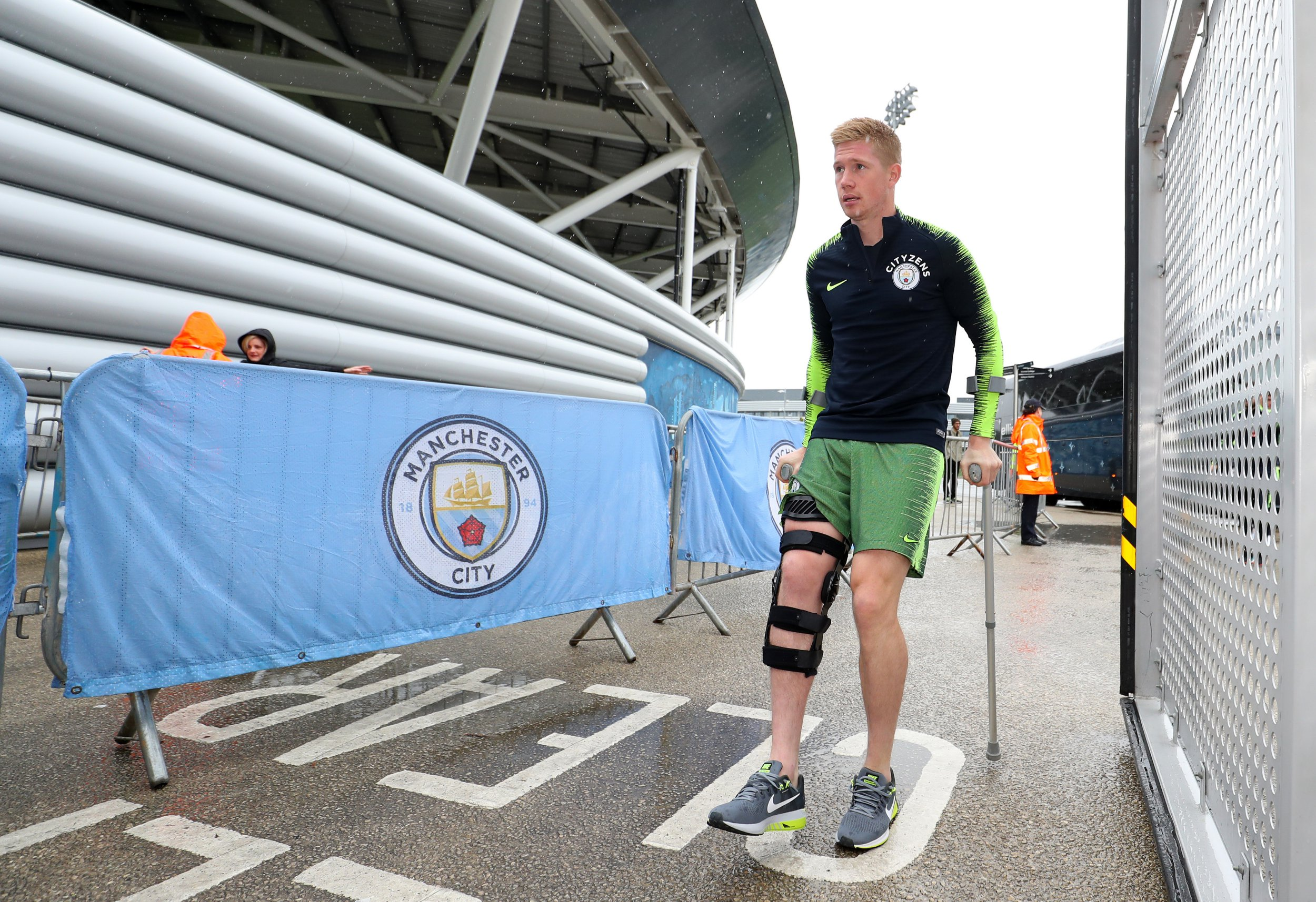 MANCHESTER, ENGLAND - AUGUST 26: Kevin De Bruyne of Manchester City during Manchester City Open Training Session at Manchester City Football Academy on August 26, 2018 in Manchester, England. (Photo by Manchester City FC/Man City via Getty Images)