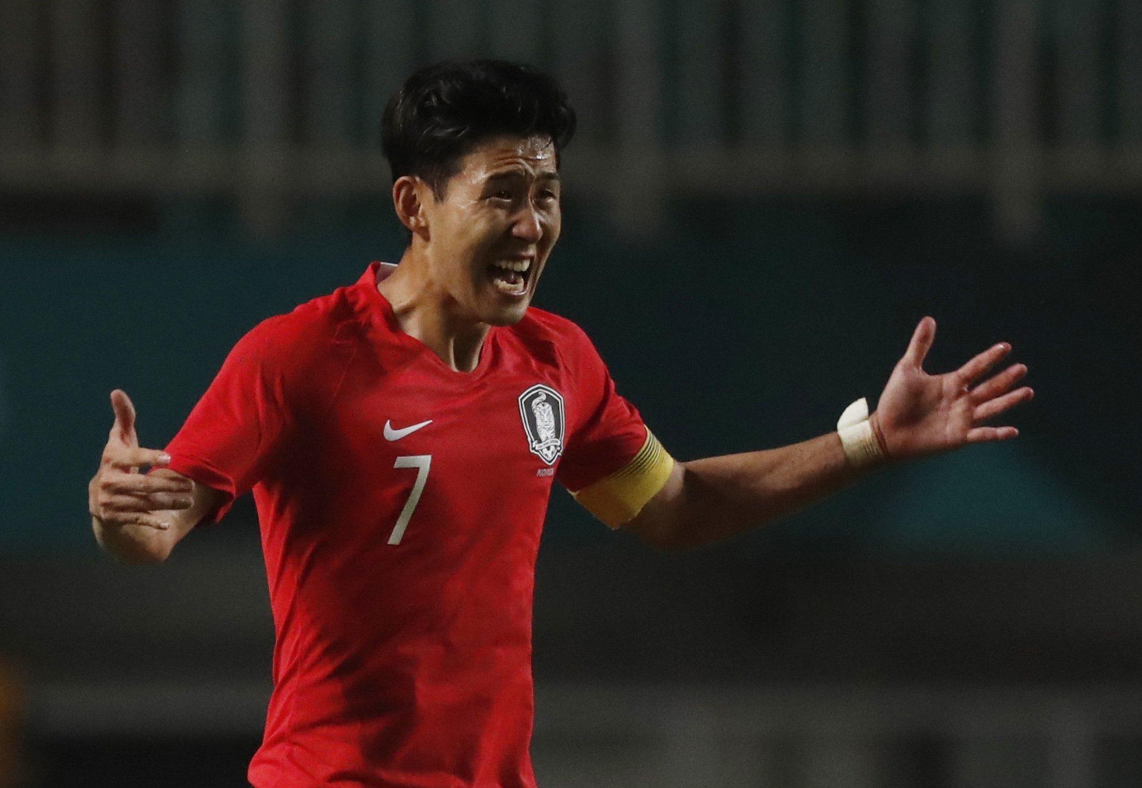 Soccer Football - 2018 Asian Games - Men's Gold Medal Match - South Korea v Japan - Stadion Pakansari - Bogor, Indonesia - September 1, 2018 - Son Heung Min of South Korea reacts. REUTERS/Darren Whiteside