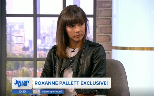 """Undated handout photo issued by Channel 5 of Roxanne Pallett, giving her first interview since leaving the Celebrity Big Brother House, during the launch of Channel 5 current affairs show Jeremy Vine. Pallett has said she """"got it wrong"""" after she claimed that actor Ryan Thomas punched her in the Celebrity Big Brother house. PRESS ASSOCIATION Photo. Issue date: Monday September 3, 2018. Speaking on Channel 5's Jeremy Vine, the former Emmerdale star said: """"At the time it hurt. But when I looked back on that footage as soon I left the house - the first thing I did was view that clip - and I got it wrong, I really got it wrong."""" See PA story SHOWBIZ Pallett. Photo credit should read: Channel 5/PA Wire NOTE TO EDITORS: This handout photo may only be used in for editorial reporting purposes for the contemporaneous illustration of events, things or the people in the image or facts mentioned in the caption. Reuse of the picture may require further permission from the copyright holder."""
