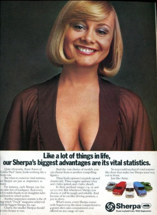 Sherpa - Leyland cars Sexist car adverts from yesteryear show how far we have come