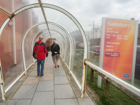 Plastic tunnel outside Sainsbury's is voted town's best tourist attraction