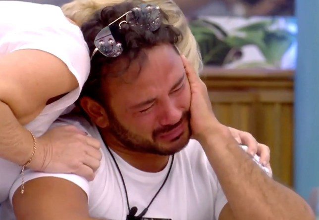 Editorial Use Only Mandatory Credit: Photo by REX (9854351z) Sally Morgan comforts Ryan Thomas 'Celebrity Big Brother' TV show, Series 22, Elstree Studios, Hertfordshire, UK - 4 Sep 2018