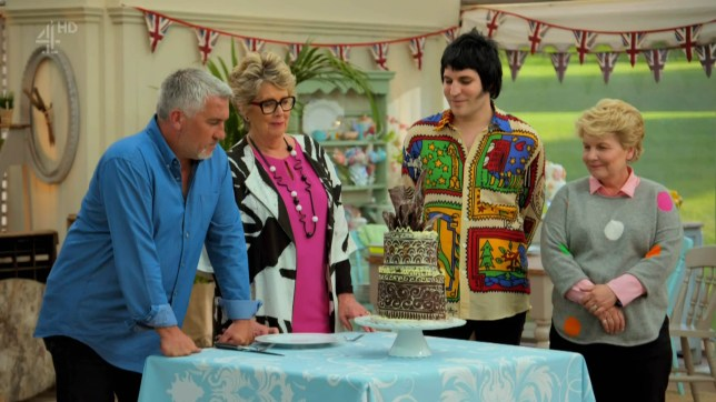 "4-9-2018 TV show ""The Great British Bake Off"" (series 9) week 2 Pictured: Noel Fielding Sandi Toksvig Paul Hollywood Prue Leith PLANET PHOTOS www.planetphotos.co.uk info@planetphotos.co.uk +44 (0)20 8883 1438"