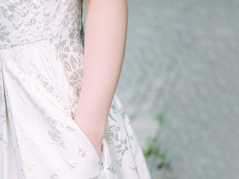 Nobody seemed to know that a lot of wedding dresses come with pockets