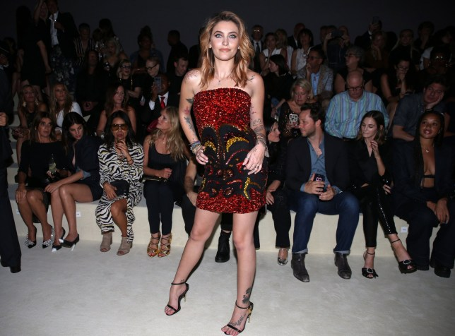 Mandatory Credit: Photo by Mark Von Holden/WWD/REX (9865929c) Paris Jackson in the front row Tom Ford show, Front Row, Spring Summer 2019, New York Fashion Week, USA - 05 Sep 2018