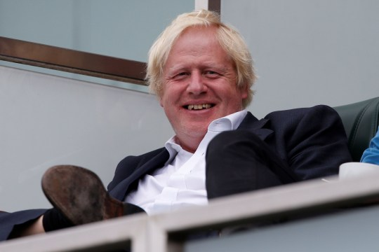 Britain's former foreign secretary Boris Johnson sits in the stands during play on the second day of the fifth Test cricket match between England and India at The Oval in London on September 8, 2018. (Photo by Ian KINGTON / AFP) / RESTRICTED TO EDITORIAL USE. NO ASSOCIATION WITH DIRECT COMPETITOR OF SPONSOR, PARTNER, OR SUPPLIER OF THE ECBIAN KINGTON/AFP/Getty Images