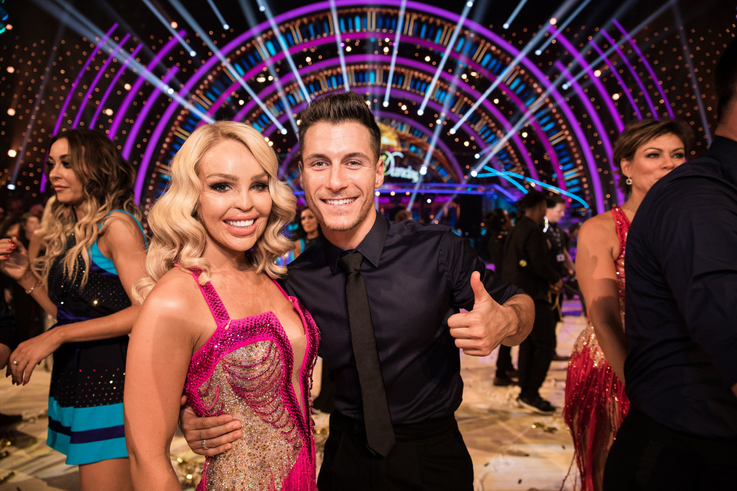 EMBARGOED TO 2100 SATURDAY SEPTEMBER 8 For use in UK, Ireland or Benelux countries only Undated BBC handout photo of Katie Piper and Gorka Marquez during the return of the BBC One show, Strictly Come Dancing. PRESS ASSOCIATION Photo. Issue date: Saturday September 8, 2018. See PA story SHOWBIZ Strictly. Photo credit should read: BBC/PA Wire NOTE TO EDITORS: Not for use more than 21 days after issue. You may use this picture without charge only for the purpose of publicising or reporting on current BBC programming, personnel or other BBC output or activity within 21 days of issue. Any use after that time MUST be cleared through BBC Picture Publicity. Please credit the image to the BBC and any named photographer or independent programme maker, as described in the caption.
