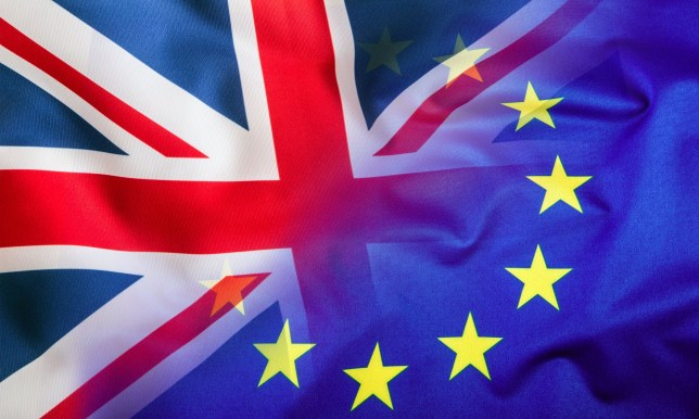Flags of the United Kingdom and the European Union. ; Shutterstock ID 427710964; Purchase Order: -