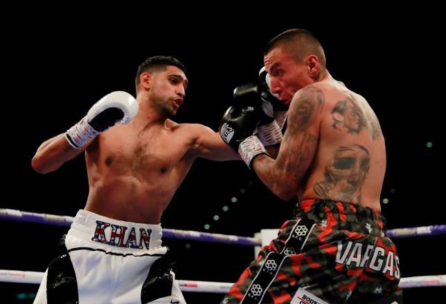 Boxing - Amir Khan v Samuel Vargas - Arena Birmingham, Birmingham, Britain - September 8, 2018 Amir Khan in action against Samuel Vargas Action Images via Reuters/Andrew Couldridge