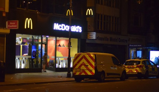 Portsmouth,Hampshire Sunday 9th September 2018 Police launched Investigation after Mcdonald?s Worker attacked with Chemicals. A fast food restaurant in the centre of Portsmouth is on lockdown after emergency service have been called to it this evening. Mcdonalds in Commercial Rd in Portsmouth has been closed with Officers from Hampshire Constabulary remaining outside. Two patrol vehicles remain. A scene guard has been put up by officers. Fire crews from Southsea and Cosham also attended. the Hart Team from Southcentral ambulance service were also sent to the incident that happened on Sunday evening at around 6.45pm. Three Police officers remain on the premises. It is understood that a worker has been hurt after a suspected chemical attack. The worker has been treated by paramedics at the scene after chemicals were sprayed by a group of teenagers who carried out the wicked attack and ran off from the store. A witness who saw the foul attack take place said the staff member is a really nice bloke. I saw Alex holding his face and saying to the staff they have sprayed something in his eyes. I watched the two girls and group of lads laughing after they had done it and ran off toward the Painters Pub. Claims are being made that the person who carried out this cowardly attack is only thirteen years old. A spokesman for Hampshire Constabulary said: ?An investigation has been launched after a member of staff at McDonalds in Commercial Road, Portsmouth was sprayed in the face with a chemical substance at around 6.45pm today, Sunday, September 9. ?It is thought the substance is a CS spray or similar. However initially it was not known what it was and fire, ambulance and police were all called to the scene. ?We're appealing for any witnesses or anyone with information about the incident to contact us on 101.??UKNIP