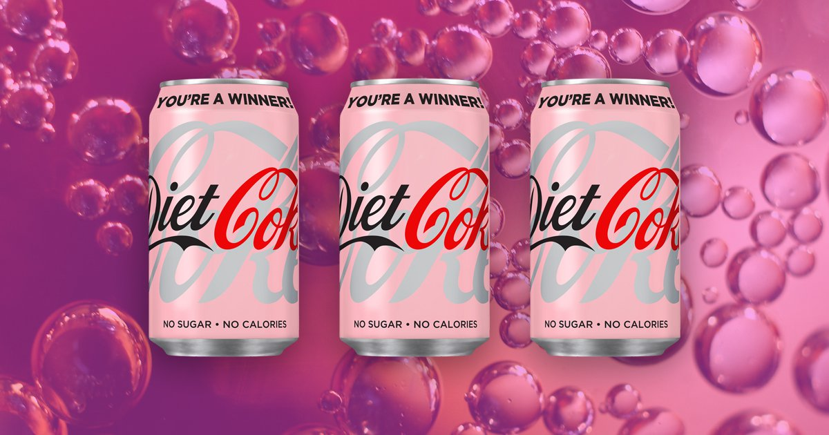 You can now get pink Diet Coke cans in the UK (Picture: Coca-Cola; Getty)