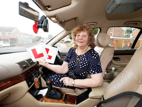 75-year-old gran passes her driving test on the fourth try