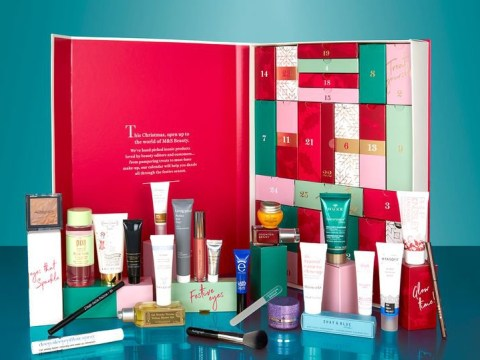 The M&S beauty advent calendar is back, with £250 worth of goodies for £35