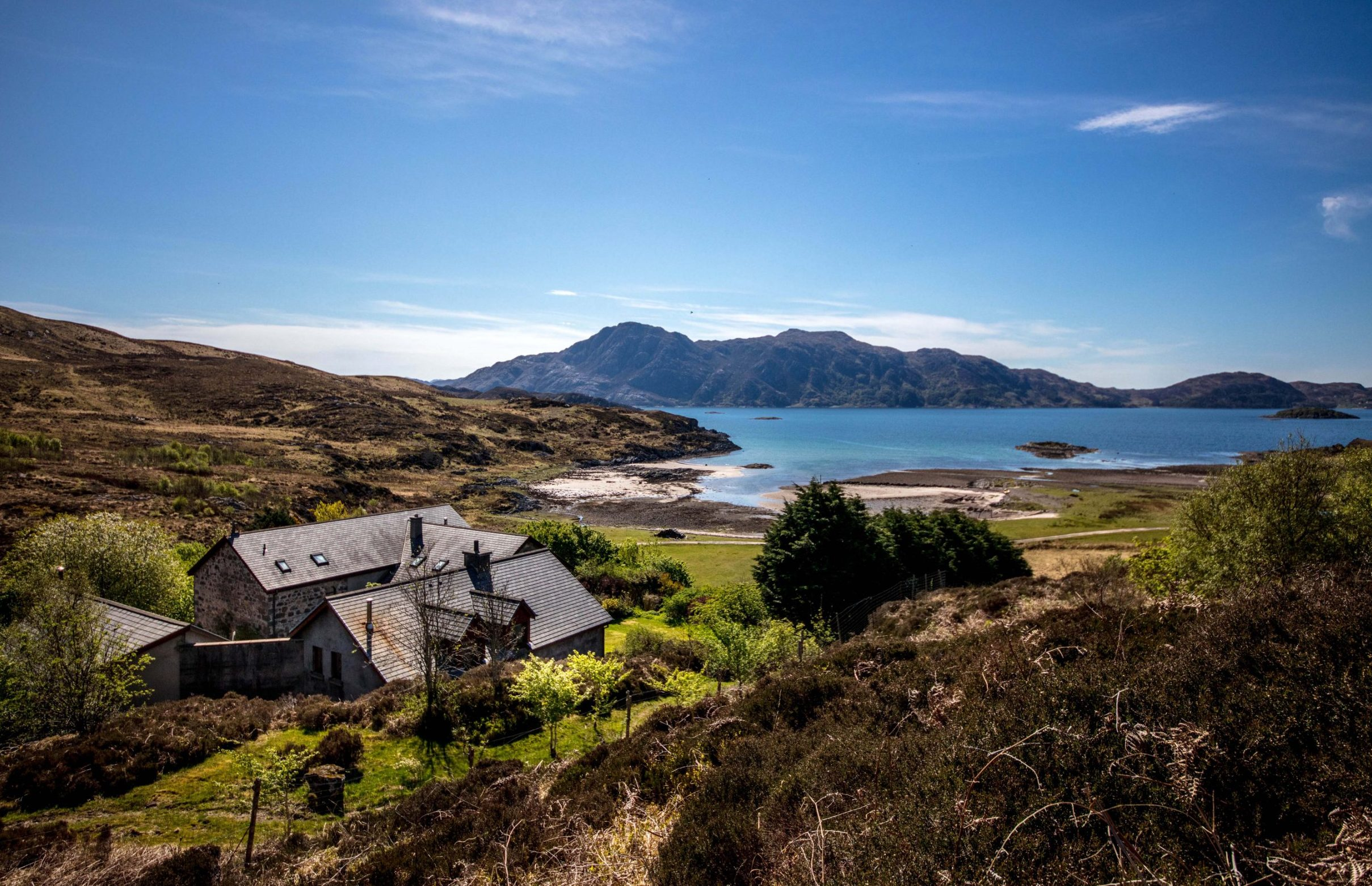 BNPS.co.uk (01202 558833) Pic : Savills/BNPS The ultimate getaway... A Scottish retreat that is surrounded by its own 105-acre estate and has a private beach - on the market for ?750,000 - is the perfect haven for those looking to escape the rat race. It would be difficult to find a more secluded home than Sandaig House on the Knoydart Peninsula, which has a breathtaking outlook over Loch Nevis. The peninsula is often described as 'Britain's last wilderness' and can only be accessed by boat from Mallaig or a 16-mile walk through rough country. Sandaig House come with a private bay, perfect for setting off sailing or sea fishing, which even has white sands at low tide.