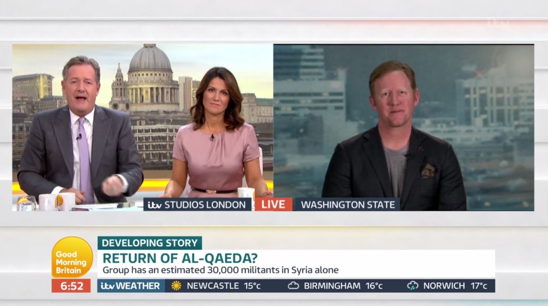 On the anniversary of September 11, the man who shot dead Osama Bin Laden spoke about firing the gun that killed him. Robert O???Neill told Piers Morgan and Susanna Reid: ???I remember firing the shots that killed Osama Bin Laden, and the moment his body was there and I put his wife on the bed next to him and his two year old son who was there, and me being a father and thinking this poor kid has nothing to do with this, I realised this isn???t over and I wish no one had to see this stuff. But it was kind of a realisation, that we are not going to win this war through bullets and guns but through education, there???s an ideology out there that wants to make us less safe. Is this the worst thing I???ve ever done or the best thing I???ve ever done? I???m not sure of the answer yet. There are men and women that wish us ill will??????
