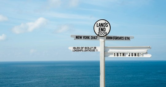 Land's End Sign, Cornwall.