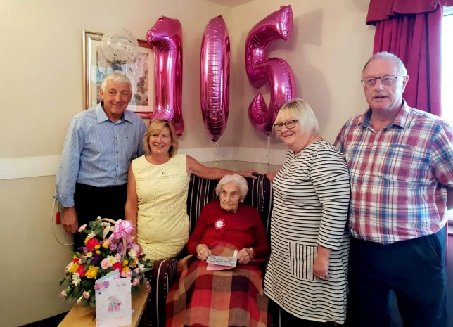 Brenda Osbourne with her great-nieces Marie Pollard, left, with her husband Stuart, and Dianne Russell with her husband Philip. A 105-year-old spinster has revealed the key to a long life is -- being SINGLE. See ROSS PARRY story RPYSINGLE. Brenda Osborne stunned care workers when they asked for tips on how to live to a ripe old age. She puts her longevity down to never marrying or having children. Retired nurse Brenda puts her old age down to avoiding men and also fresh air after spending half the year living at Ingoldmells after her retirement. The centenarian was born in Mansfield, Notts., 1913 - the same year Arsenal F.C moved to Highbury and 439 miners died in the Senghenydd Colliery Disaster. Brenda lived in her childhood home for a staggering 93 years before moving into the nursing home just last year after her 104 birthday.