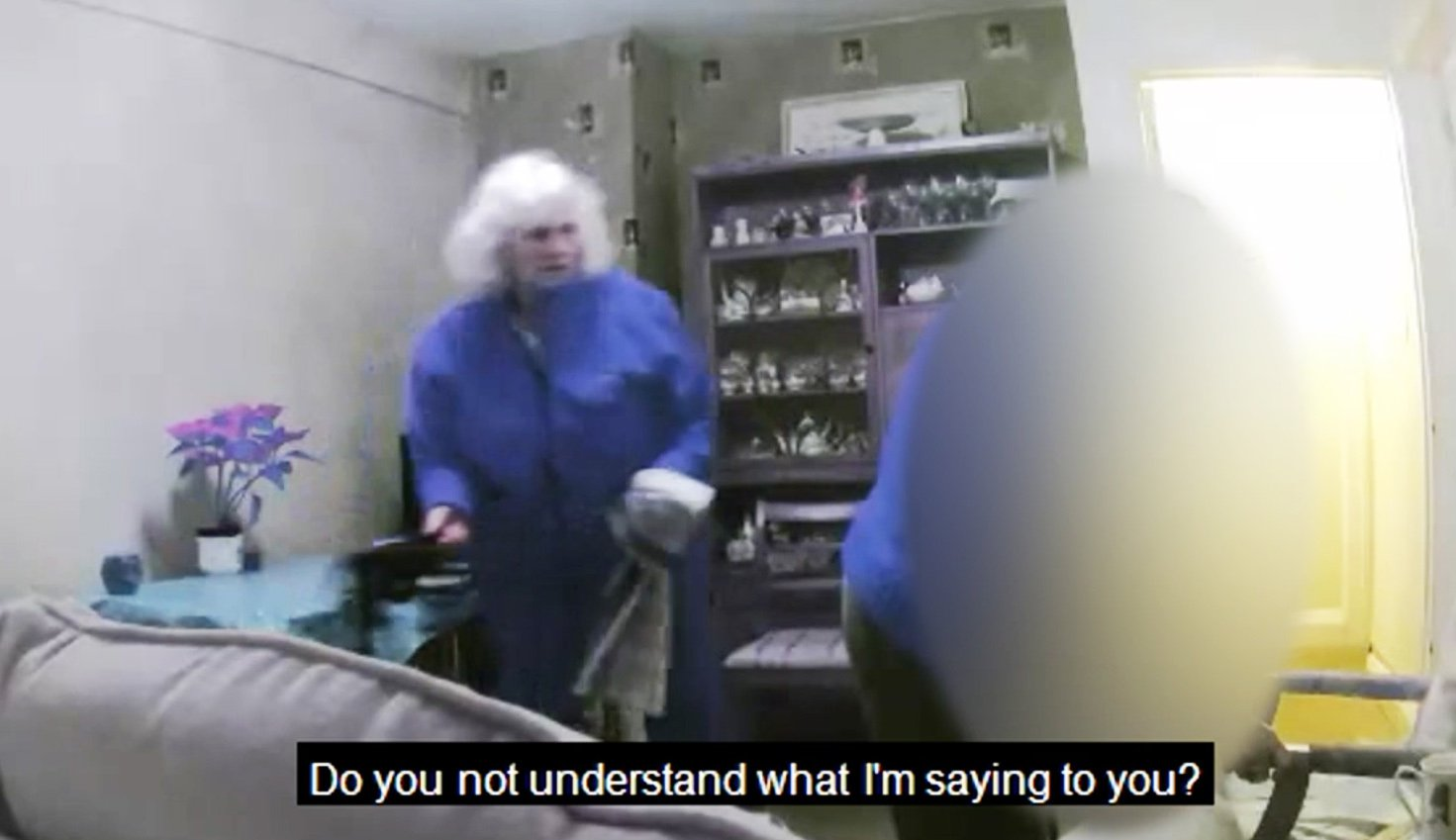 "BNPS.co.uk (01202 558833)?Pic: DorsetPolice/BNPS CCTV stills from footage of Susan Hind mistreating a dementia sufferer. A carer who subjected a 78-year-old dementia sufferer to ""cruel"" and ""degrading"" treatment today faces jail after she was caught on CCTV cameras installed by the woman's daughter. Susan Hind, 69, subjected vulnerable Martha Davison to abuse, threats, mockery and undignified acts, calling her a ""dirty bitch"" and pushing a bag of soiled clothes close to her face at her home in Bournemouth, Dorset. As she pleaded guilty to three counts of ill-treatment or wilful neglect of an individual on Thursday, Poole Magistrates were shown multiple clips of CCTV that showed Hind shouting at and degrading the elderly woman. Hind held her head in her hands as the footage was shown in which she told the elderly woman she ""made her sick"" and called her a disgrace and a ""dirty, disgusting person""."