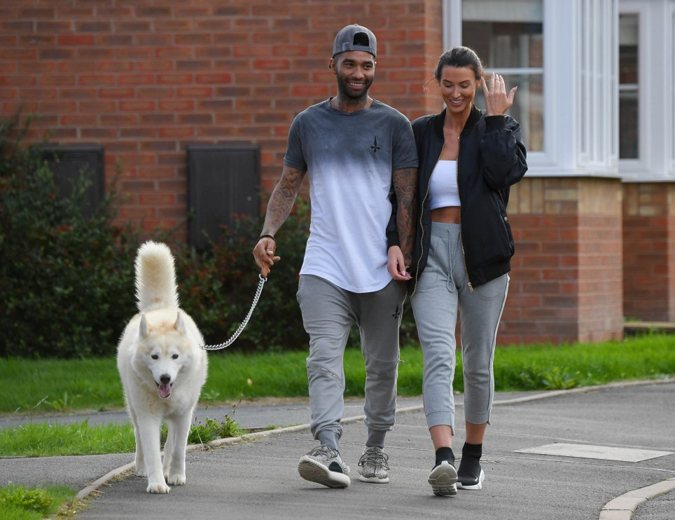 Birmingham, UK Sep 12, 2018 CBB star Jermaine Pennant and wife Alice Goodwin spotted linking arms while they walked their dog near there home. ***??250pp minimum for magazines*** Exclusive Worldwide Rights Pictures by : iCelebTV ?? 2018 Tel : +44 (0)151 659 1005 Email : pictures@icelebtv.com
